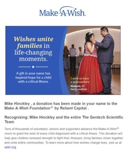 Gentech Donation Flyer